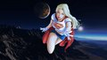 dc-comics - Supergirl Over Mountain Range wallpaper wallpaper