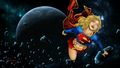 dc-comics - Supergirl and Asteroids wallpaper wallpaper