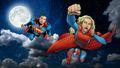 dc-comics - Supergirl and Superman at Night 1 wallpaper wallpaper