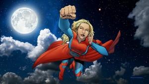 Supergirl پیپر وال - At Night