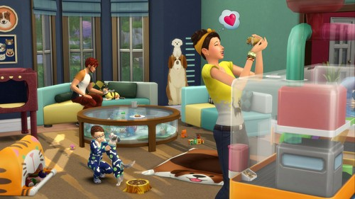 Sims 4 karatasi la kupamba ukuta entitled The Sims 4: My First Pet