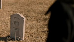 Troy's Grave in Sleigh Ride (3x16)