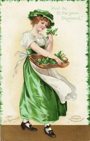 Vintage St. Patrick s ngày Postcard