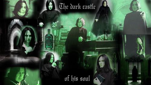 Severus Snape Hintergrund called Wallpaper_with_Snape1920X1080