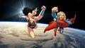 dc-comics - Wonder Woman & Supergirl Wallpaper - In Space wallpaper