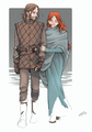 Young Ned and Catelyn by nami64  - a-song-of-ice-and-fire fan art