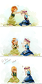 anna and elsa by gumithealien d77ome1 - elsa-and-anna photo