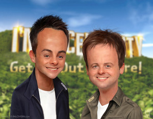 ant and dec caricature by kevmcgivernart d882i5g