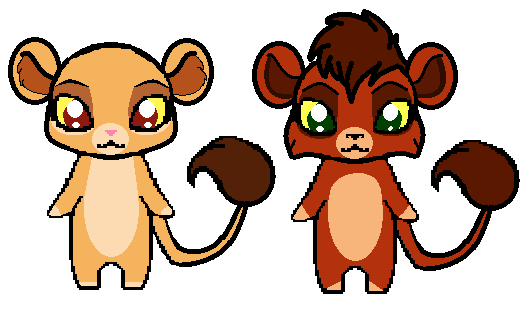 Chibi kiara and kovu