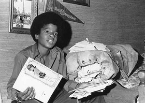 michael with fan mail