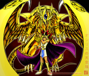 pharaoh atem and ra kwa slifertheskydragon