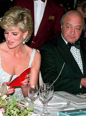 princess diana and Mohamed Al-Fayed