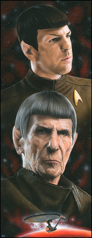 星, 星级 trek spock 由 caldwellart