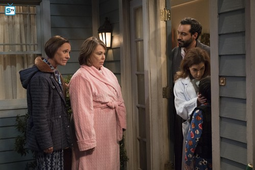Roseanne karatasi la kupamba ukuta entitled 10x07 - Go Cubs - Roseanne, Jackie and the neighbors