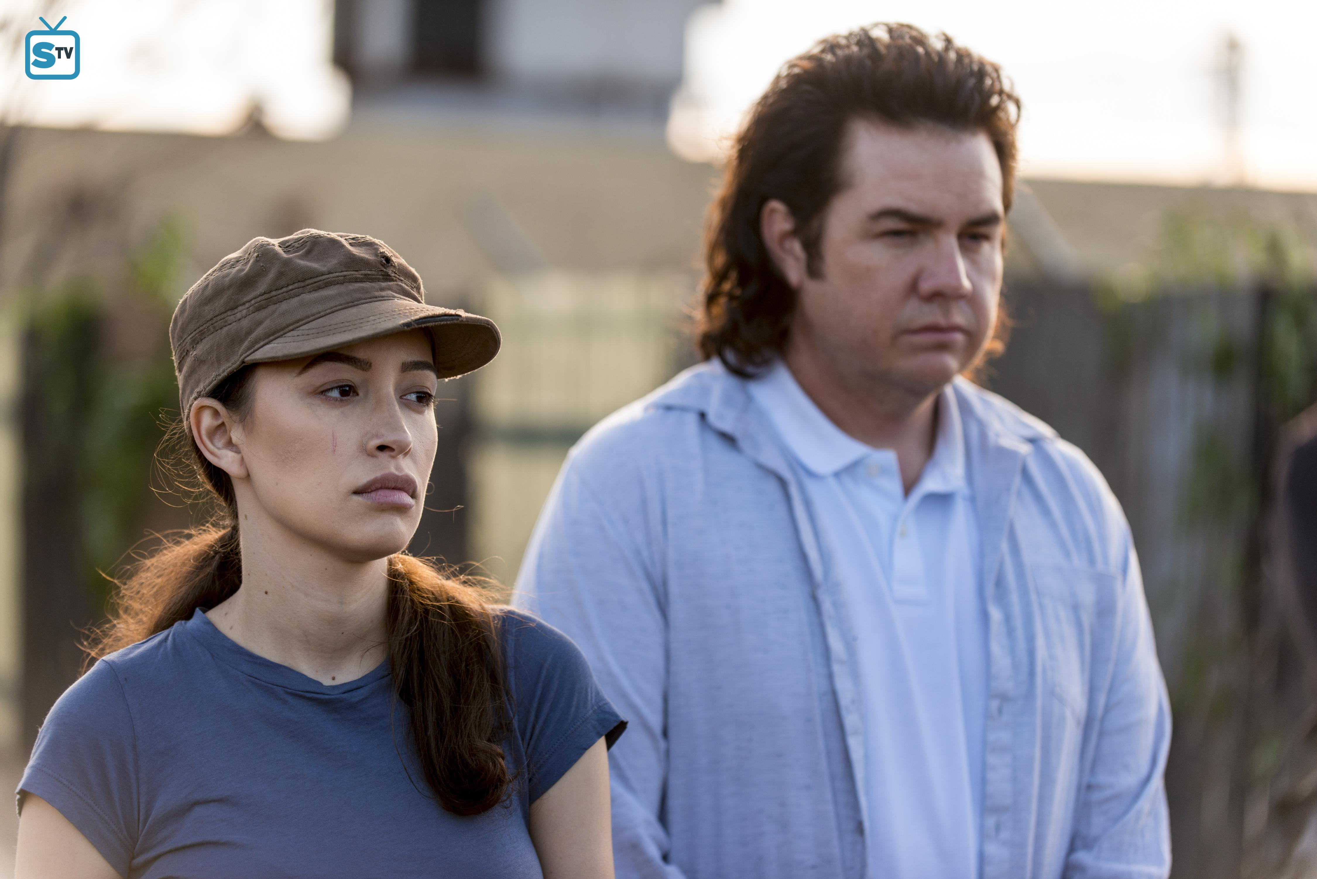 8x15 Worth Rosita And Eugene The Walking Dead Photo