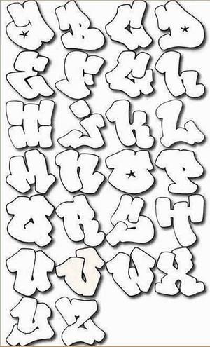 A Z graffiti alphabet letters