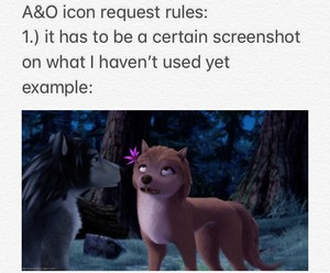 A&O Icon request rules part 1