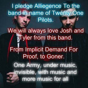 ALRIGHT! SOMEONE WRITE US A BETTER PLEDGE!