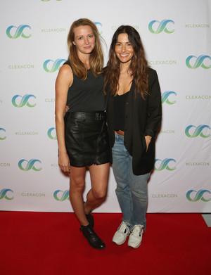 Amy Acker and Sarah Shahi at ClexaCon 2018