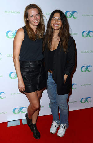 Amy Acker and Sarah Shahi at ClexaCon 2018