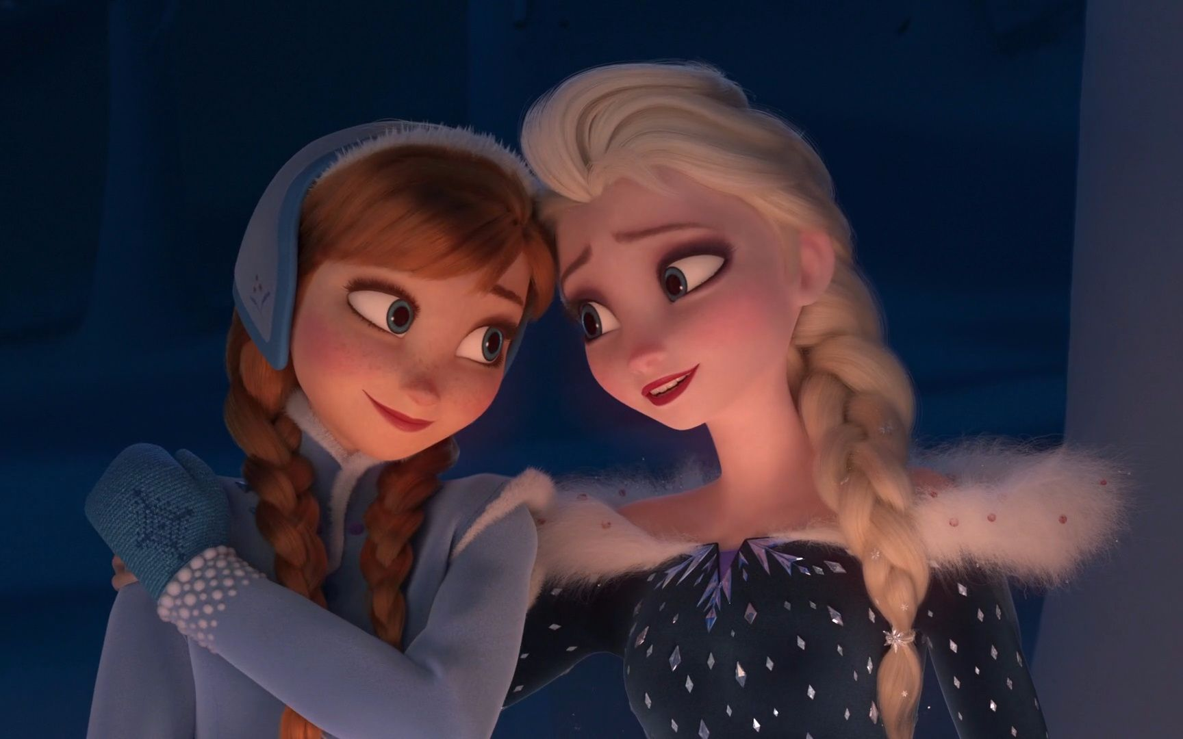 Anna & Elsa is Happy