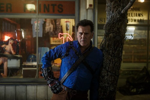 "Ash vs Evil Dead achtergrond called Ash Vs Evil Dead ""Rifting Apart"" (3x08) promotional picture"