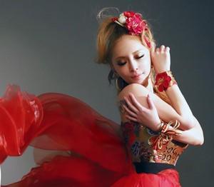 Ayumi in Red dress
