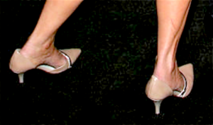 Back Of Debbie's Pumps