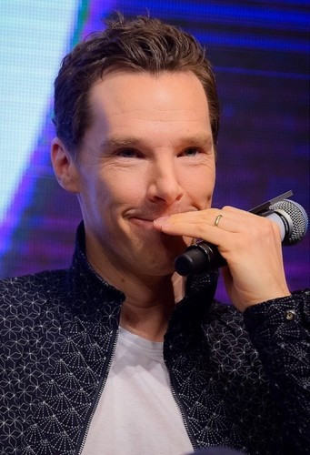 Benedict Cumberbatch wallpaper entitled Benedict promoting Infinity War