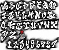 Black and White of Graffiti Letters A Z 570x479