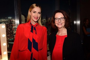 Charlize Theron and Julia Gillard at the Global Education and Skills forum