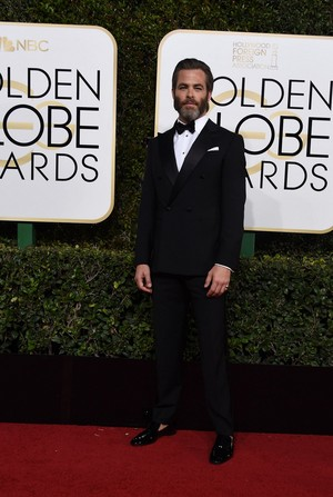 Chris @ 2017 Golden Globe Awards