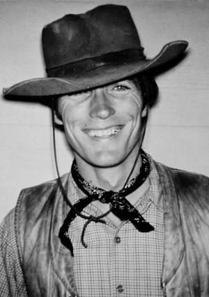 Clint Eastwood on the set of Rawhide (1960's)