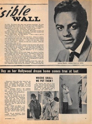 Clipping Pertaining To Johnny Mathis