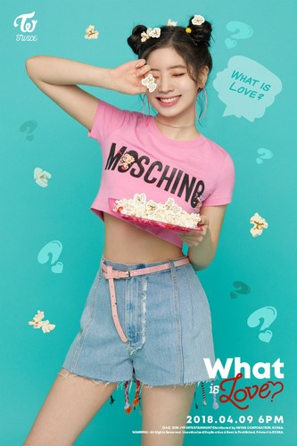 "Twice (JYP Ent) wallpaper entitled Dahyun's teaser image for ""What is Love?"""