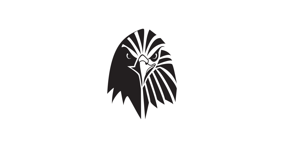 the supremes images eagle logo template black and white free vector