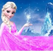 Elsa in pink dress  - frozen icon