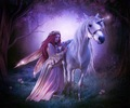 Fairy and Unicorn - magical-creatures fan art
