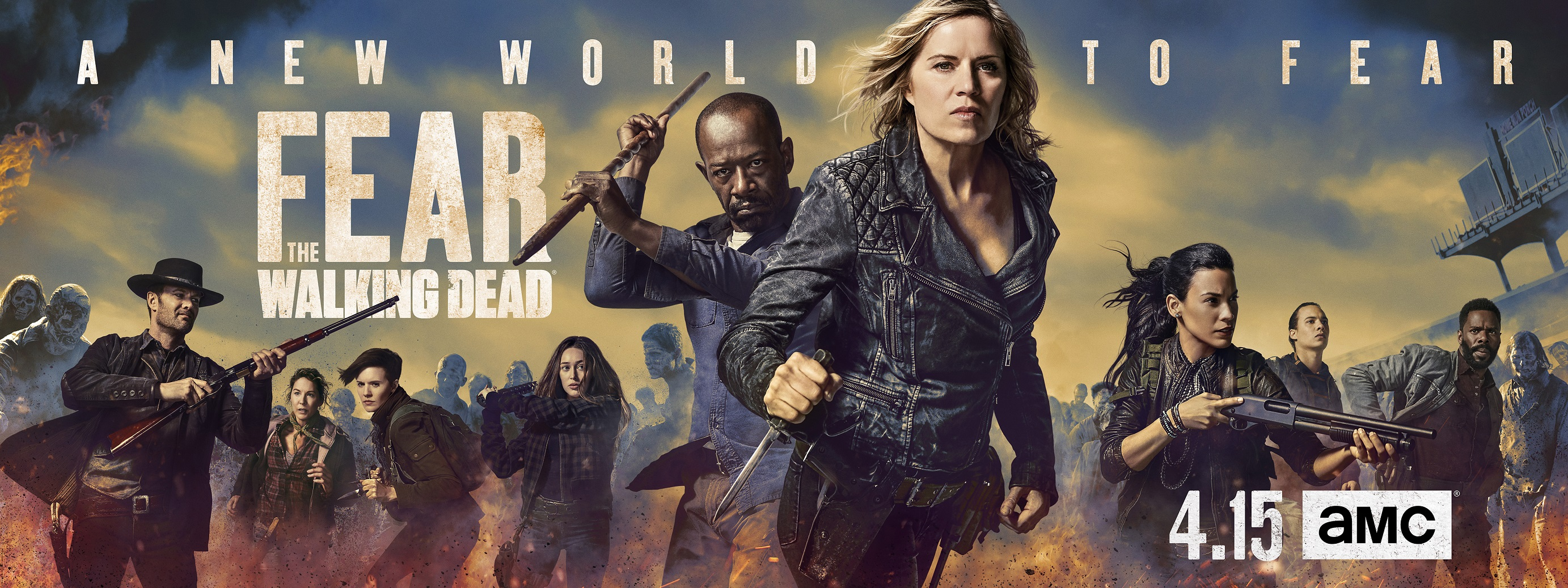 Fear the Walking Dead Обои Fear the Walking Dead - Season 4 Key Art ...