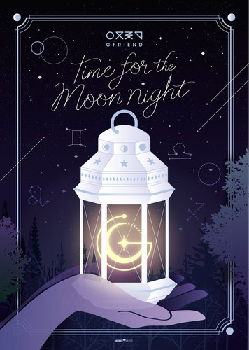 "GFriend দেওয়ালপত্র entitled GFriend 6th Mini Album ""Time For the Moon Night"""