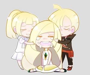 Gladion, Lillie, Lusamine   Pokemon