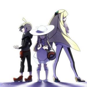Gladion, Lusamine, Lillie   Pokemon