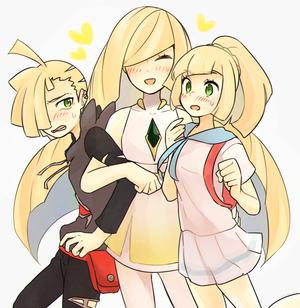 Gladion Lusamine and Lillie | Pokemon