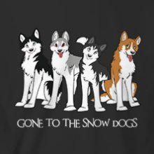 Gone to the Snow perros