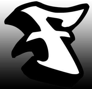 Graffiti Letter F 3D Style design 4
