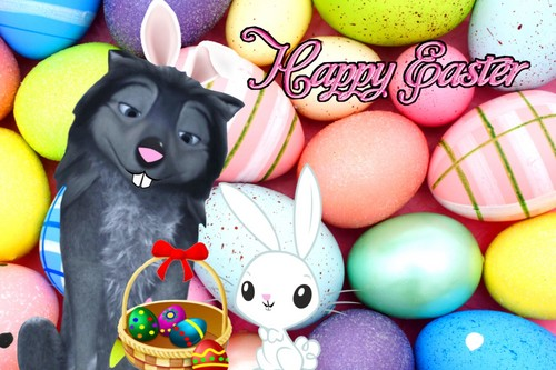 """Humphry from the movie """"Alpha and Omega"""" fondo de pantalla called Happy Easter from me!"""