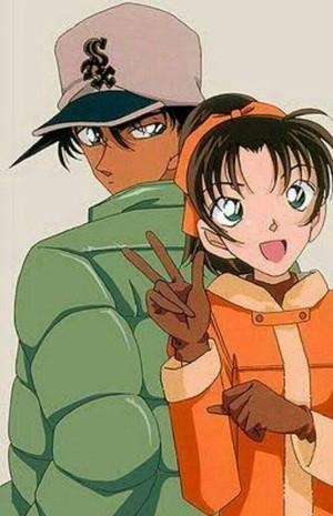 Hattori Heiji and Kazuha Toyama