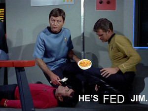 He is fed, Jim.