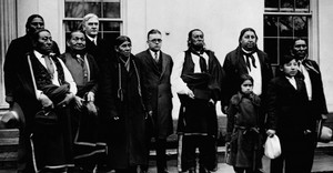 In 1926, members of the Osage tribe visiting the White House for a meeting with President Coolidge