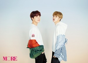 J-Hope and Jimin at 더 많이 Magazine 2018